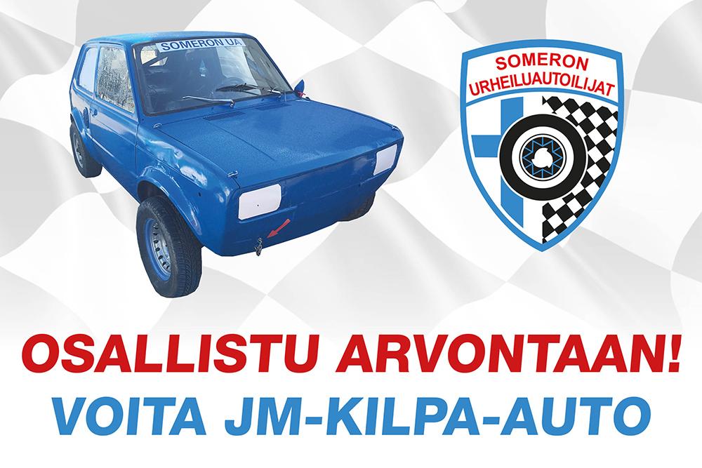 Osallistu arvontaan ja voita 6000€ arvoinen JM-kilpa-auto!